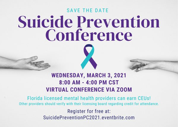 Image of the 2021 Suicide Prevention Conference flyer.