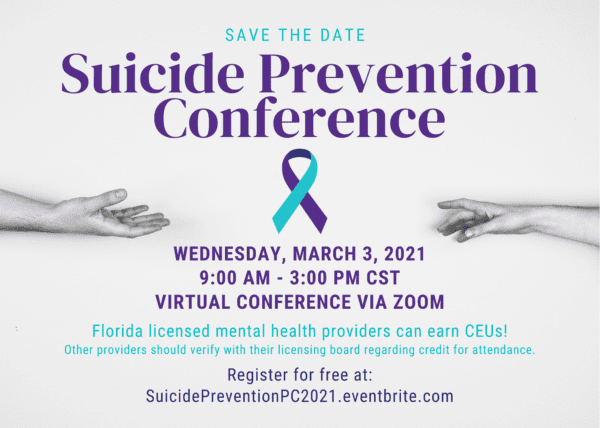 Suicide Prevention Conference flyer.